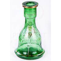 Üveg víztartály ¤ 26cm ¤ Zöld ¤ Mintás