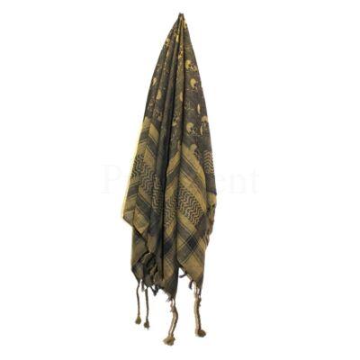 Arab kendő ¤ Keki zöld ¤ Koponyás