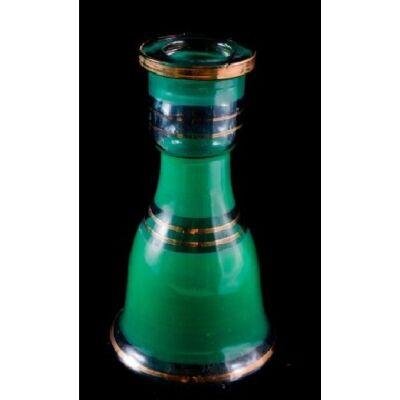 Üveg víztartály ¤ 15cm ¤ Zöld ¤ Sima
