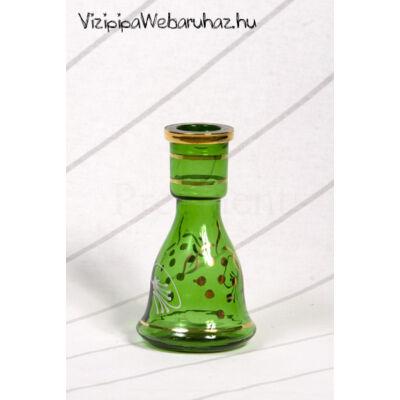 Üveg víztartály ¤ 15cm ¤ Zöld ¤ Mintás