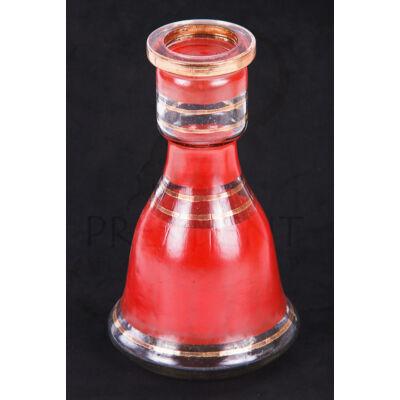 Üveg víztartály ¤ 18cm ¤ Piros