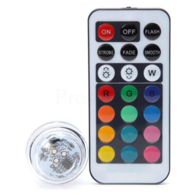 Mini távírányítható színes LED