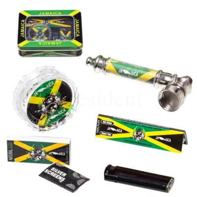 Fém pipa készlet fém dobozba ¤ Jamaikás