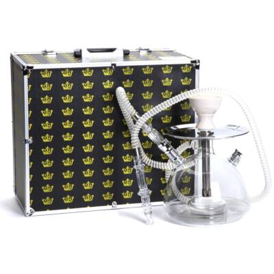 Utazós vízipipa ¤ Korona Acril ¤ 25cm ¤ LED ¤ Vortex