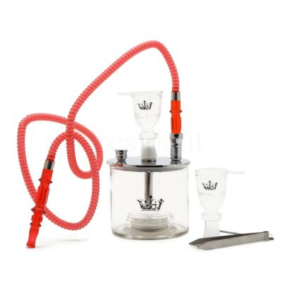 Korona vízipipa Cylinder ¤ LED ¤ Szilikon csővel