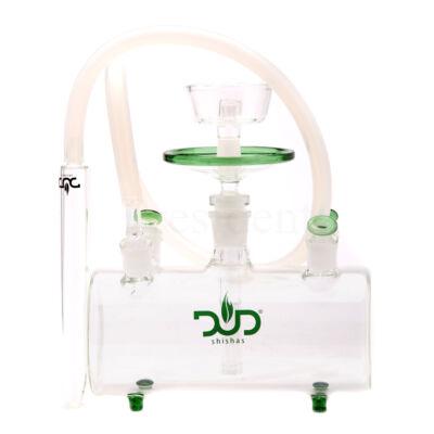 Dud Üveg vizipipa ¤ Tank ¤ Zöld ¤ Szilikon cső & Bőr koffer