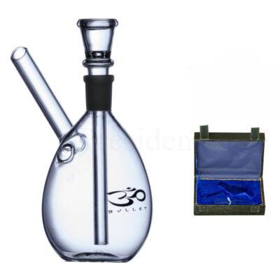 Bullet üveg bong ¤ 14cm ¤ Bőrkofferrel