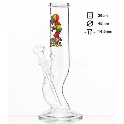 Rasta Smoker Dude üveg bong ¤ 26cm
