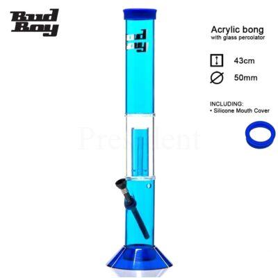 Cane Bud Boy műanyag bong Glass percolatorral ¤ Kék ¤ 40cm