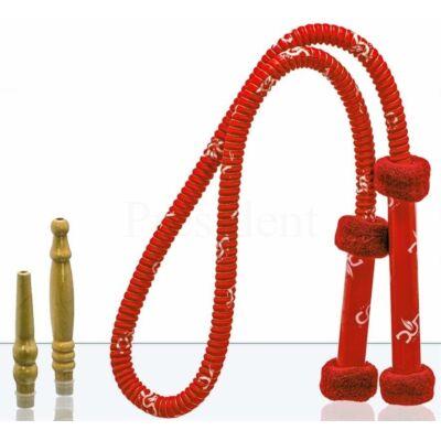 Dud mosható cső ¤ Grip ¤ Piros ¤ Kivehető fa végekkel ¤ 1,8 méter