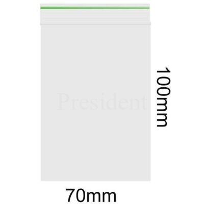 Zárható tasak 70X100mm 60mu Zöld