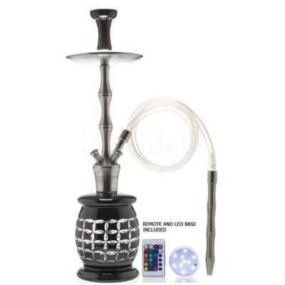 Dud Shisha ¤ Iglou ¤ 69cm ¤ Fekete ¤ Phunnel & Szilikon & LED