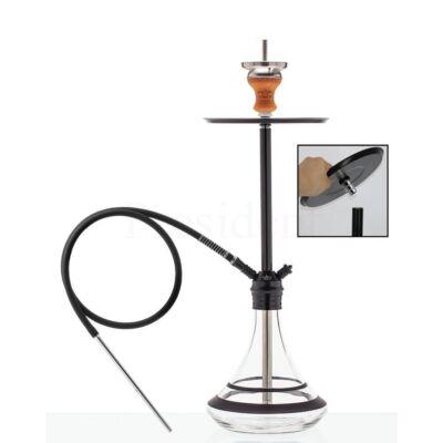Dud Shisha Space Needle ¤ 78cm ¤ Fekete ¤ Szilikon cső