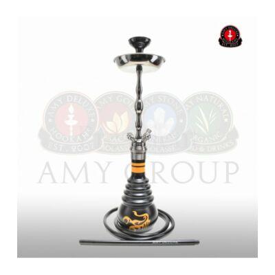 Amy NPX Scorpion Vízipipa ¤ Fekete/narancs mintás üveg & Fényes fekete test ¤ 71cm ¤ Szilikon csővel