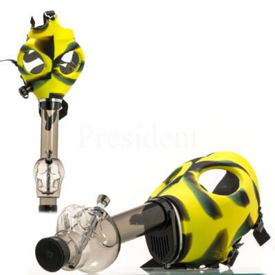 Gáz maszkos bong koponyával ¤ Sárga/Fekete