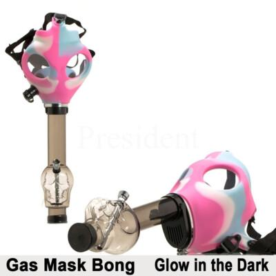Gáz maszkos bong koponyával ¤ Rózsaszín/kék