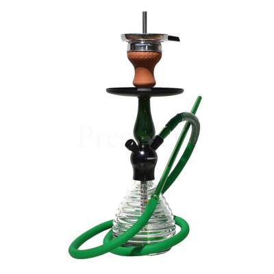 Hookah Flame Selin vízipipa ¤ Zöld ¤ 45cm ¤ Szilikon csővel